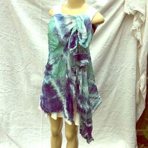 Accessories - Very large scarf/blanket dress coverup tydye boho